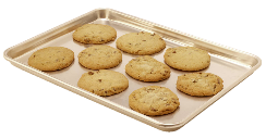 a tray of freshly baked cookies